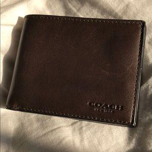 Brown Coach Men's Wallet